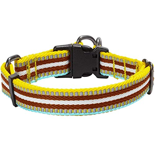 Blueberry Pet 10+ Colors Safe & Comfy Reflective Multi-Colored Stripe Collars