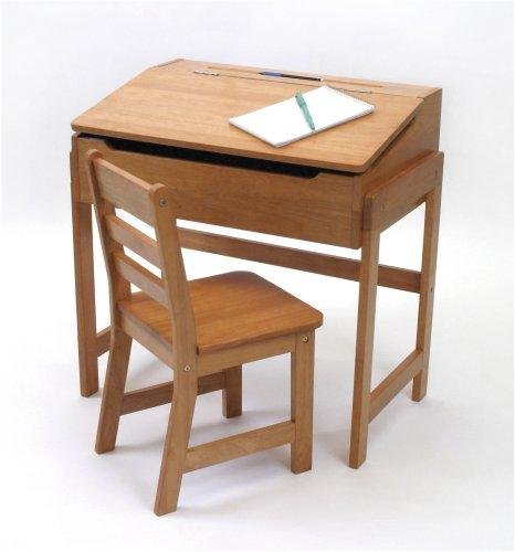amazoncom lipper international 564p childs slanted top desk and chair pecan kitchen dining childs office chair