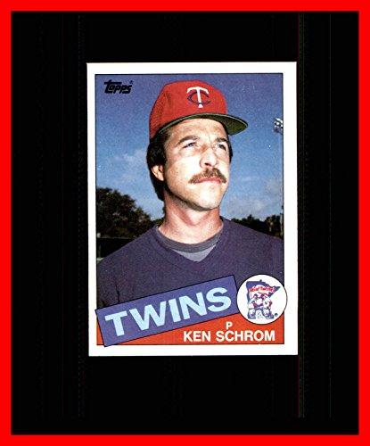 - 1985 Topps #161 Ken Schrom MINNESOTA TWINS