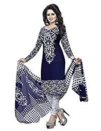 CRAFTSTRIBE Indian Bollywood Women Polyester Unstitched Salwar Kameez Dress Suit Material