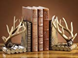 Faux Antler Lodge Bookends - Set of 2 - Cabin Decor