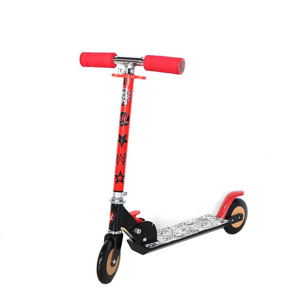スポーツカラフルフォールディング2ホイールキックスクーターとFlashinnngホイール子供と大人のための両方 (Color (Color Red) : : Red) B07KLXR8Z4 Red, ミヤコシ:7d65ab98 --- grupocmq.com
