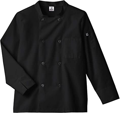 Five Star Chef Apparel 18017 Unisex Long Sleeve Moisture Wicking Mesh Back Chef Coat