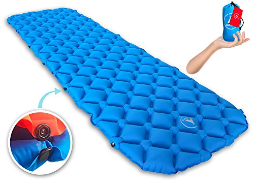 Premium New Lightweight Sleeping Pad-With Buttons For Two People or Single Person - Compact Mattress for Camping, Backpacking, Hiking: Be Comfortable Anywhere Now! Perfect for Sleeping Bag or Hammock