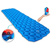 Premium New Lightweight Sleeping Pad Air Mat With Buttons For Two People or Single Person - Ultra-Compact Pads for Camping Backpacking Hiking. Perfect Mattress For Tent Sleeping Bag and Hammock
