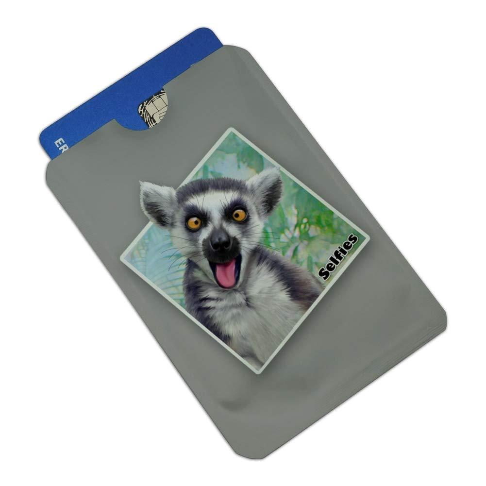 Lemur Selfie Picture Credit Card RFID Blocker Holder Protector Wallet Purse Sleeves Set of 4
