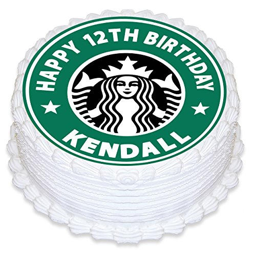Personalized Birthday Decorations - Starbucks Cake Topper Personalized Birthday 8