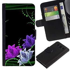 WINCASE (No Para S3 Mini) Cuadro Funda Voltear Cuero Ranura Tarjetas TPU Carcasas Protectora Cover Case Para Samsung Galaxy S3 III I9300 - floral minimalista rosa verde