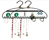 unique ideas for bathroom storage 2 PACK Hang It Jewelry Organizer by Just Solutions - Organize your Earrings, Bracelets, Rings and Necklaces - Perfect Solution to Your Messy and Tangled Jewelry Boxes, Strong 3MM Steel | Black