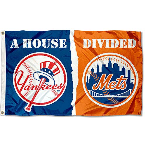 WinCraft New York Yankees and NY Mets House Divided Flag