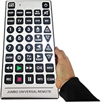Boostwaves Universal Jumbo Remote Control TV-DVD-Cable Its Huge - Never Lose it!