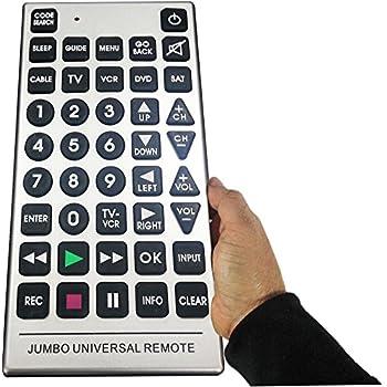 amazon com multi function jumbo universal remote gray home audio rh amazon com emerson jumbo universal remote control manual emerson smart jumbo universal remote with luminescent touchpad manual