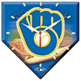 MLB 0796261 Milwaukee Brewers High Definition Plaque Clock
