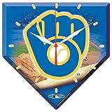 MLB 0796261 Milwaukee Brewers High Definition Plaque Clock