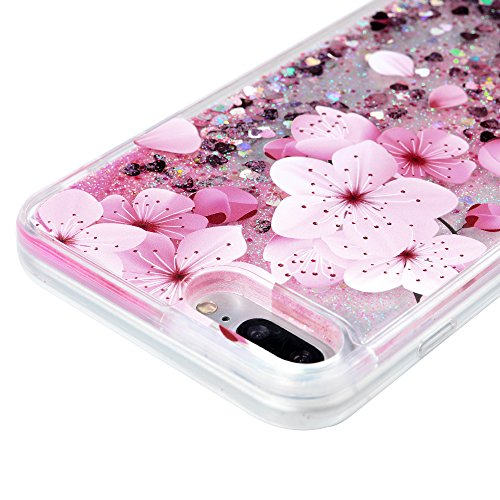 iPhone 7 Plus Case, Liquid Glitter Case Bling Shiny Sparkle Flowing Moving Love Hearts Cover Clear Ultral Slim Protective TPU Bumper Shockproof Drop Resistant Protective Case for iPhone 8 Plus KASOS by KASOS (Image #4)
