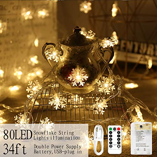Outdoor Snowflake Light String in US - 1