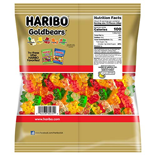 Haribo Gummi Candy, Goldbears Gummy Candy, 48 Ounce Bag (Pack of 4) by Haribo (Image #1)