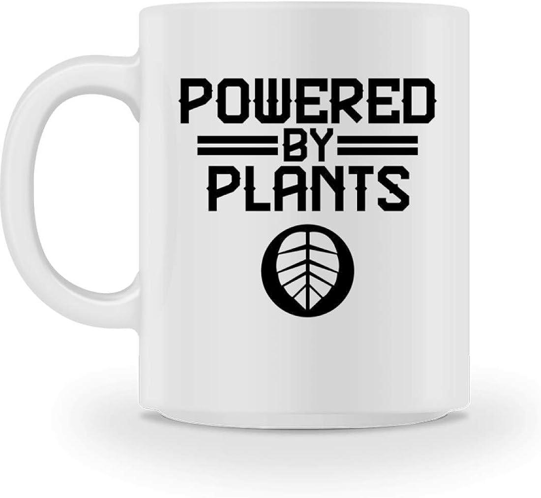 Desconocido Powered By Plants - Impulsado por plantas - Vegetariano - Vegano - Plantas - Taza