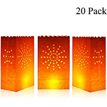 Cospring Luminary Bag Candle Bag Light Holder for Home Outdoor Christmas Wedding Reception Holiday Party and Event Occasion Decoration - Flame Resistant Paper - (20 Count)01