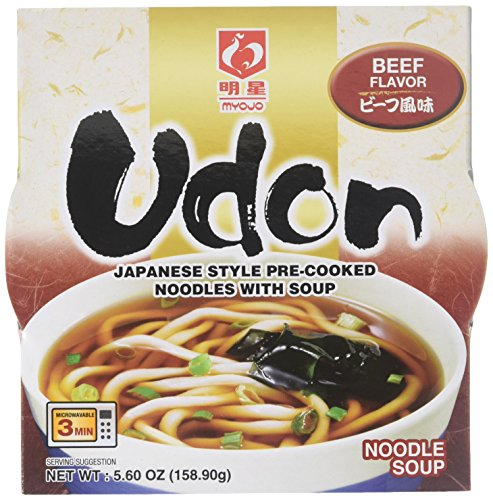 Myojo Bowl Flavored Udon Noodles, Beef, 5.6 Ounce (Pack of ()