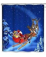 "CHUNYI Merry Christmas Bathroom Decoration Polyester Fabric Shower Curtains Liner 7272"""