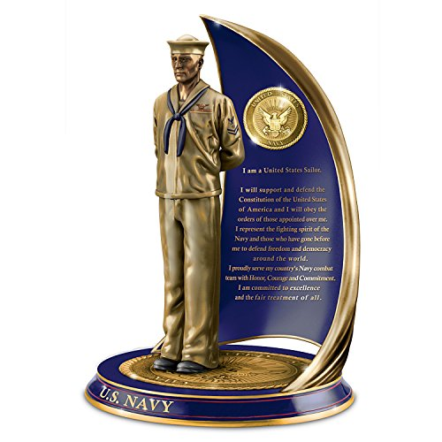 Navy Spirit Sailor Sculpture with Sailor's Creed by The Bradford (Bronze Exchange)