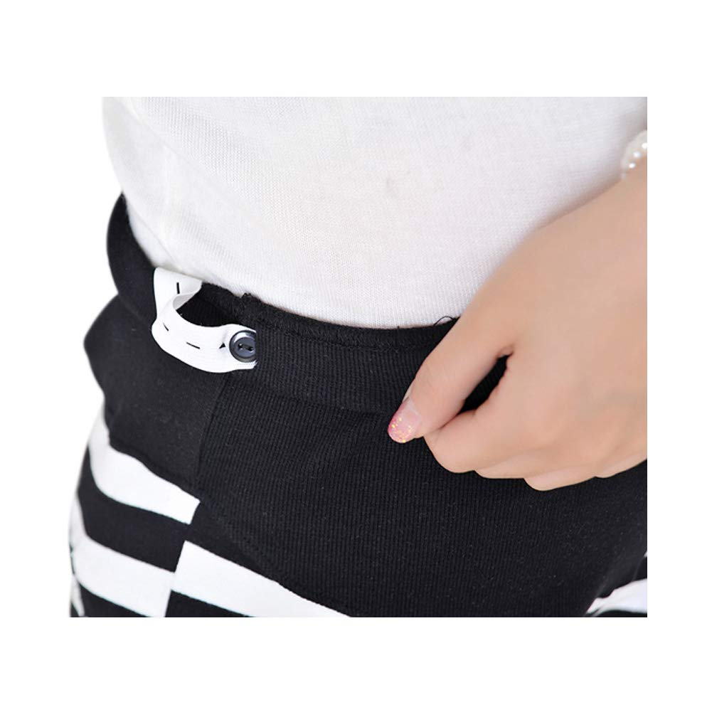 Meijunter Maternity Cotton Stripe Shorts Pregnant Women Summer High Waist Elasticity Loose Pajama Shorts Over Bump Pants
