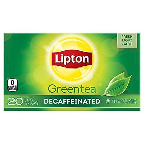 Lipton Bags Green Tea Bags, Decaffeinated 20 ct, Pack of 6