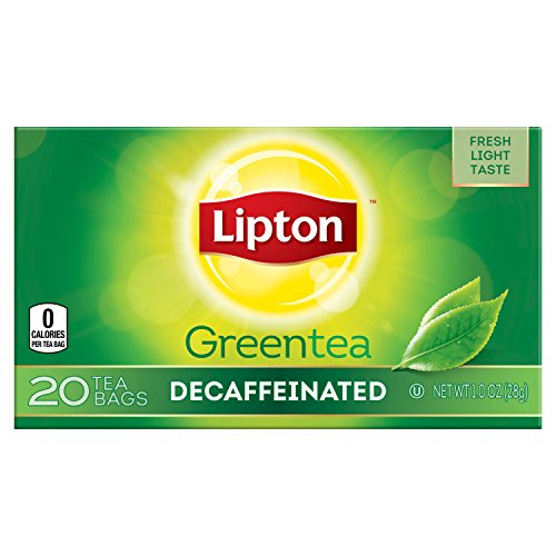Lipton Decaffeinated Green Tea Bags, 20 ct