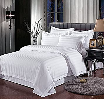 Blanc Housse de couette (King Size) 400, Premium 100% coton: Amazon ...