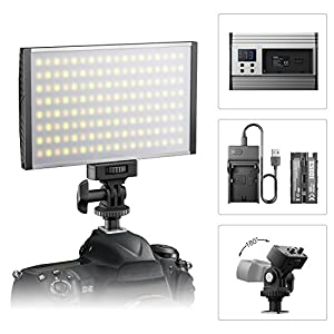 ESDDI LED Camera/Camcorder Video Light Panel for Lighting in Studio or Outdoors, 3200K to 5600K Variable Color Temperature, Ultra Thin Anodized Aluminum Housing