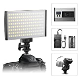 #1: ESDDI LED Camera/Camcorder Video Light Panel for Lighting in Studio or Outdoors, 3200K to 5600K Variable Color Temperature, Ultra Thin Anodized Aluminum Housing for All DSLR Cameras