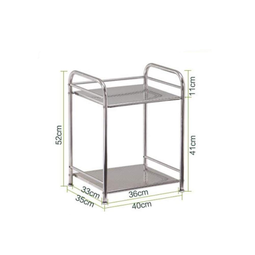 Bookcases Kitchen Shelf Rack for Home and Kitchen 2 Versatile 304 Microwave Oven Rack Stainless Steel Storage Storage Rack Dish Rack Yixin (Color : B, Size : 403552cm)