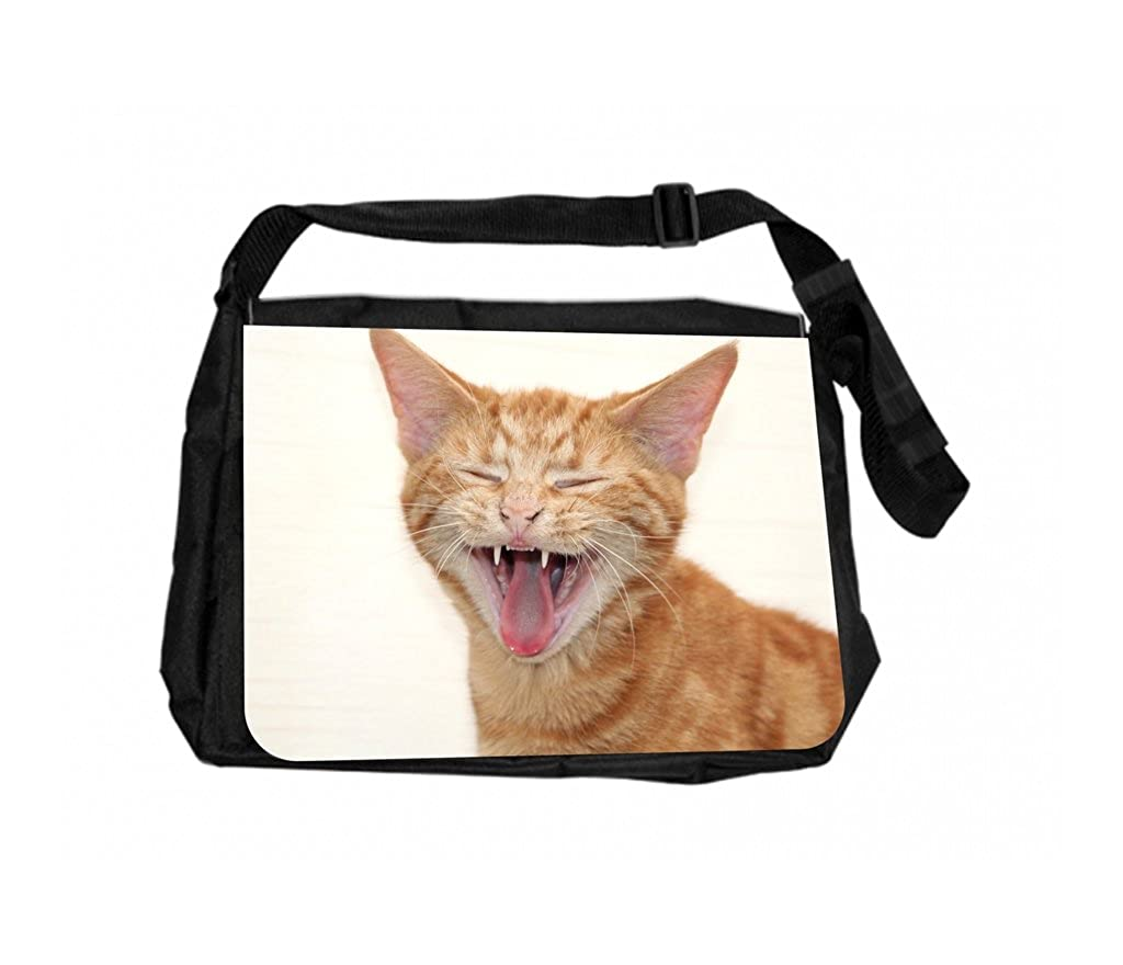 Laughing kitty Rosie Parker Inc。TMノートパソコンメッセンジャーバッグand Small Case forワイヤアクセサリーセット   B072QYP32X