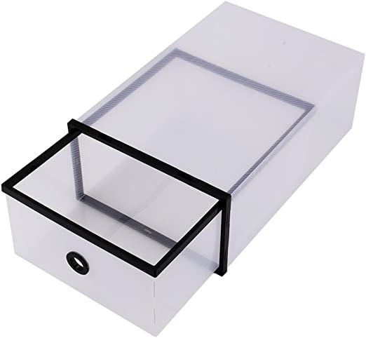 DEWIN Caja de Zapatos - Caja de Zapatos de plástico Transparente ...