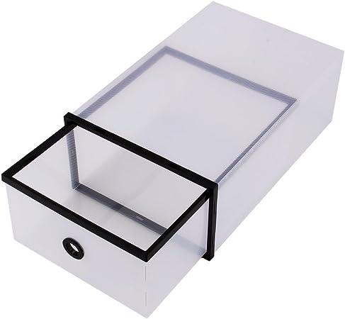 Yosoo - 10 cajas para zapatos transparentes, organizadores dobles plegables de plástico: Amazon.es: Hogar