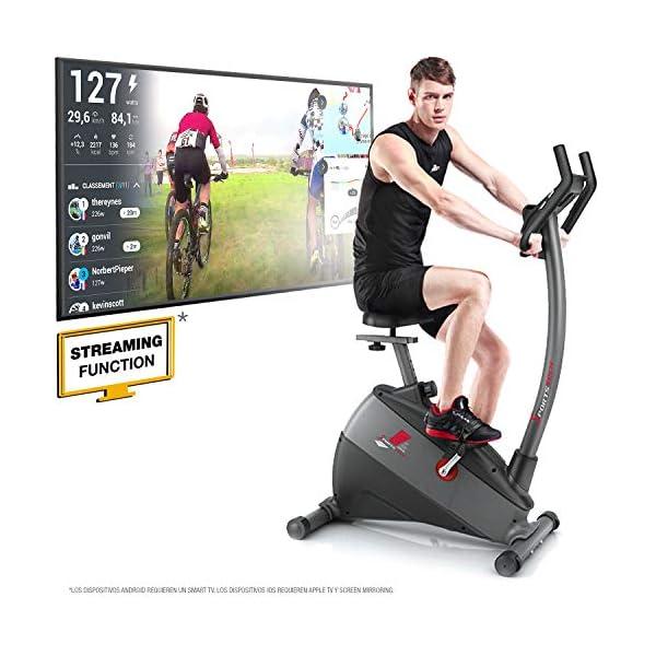 """Sportstech Ergometro ESX500 Marchio di qualità Tedesco- Eventi Video e Multiplayer App+5,5"""" Display, Volano da 12KG, Compatibile Cintura pulsazioni -Cyclette silenziosa 1 spesavip"""