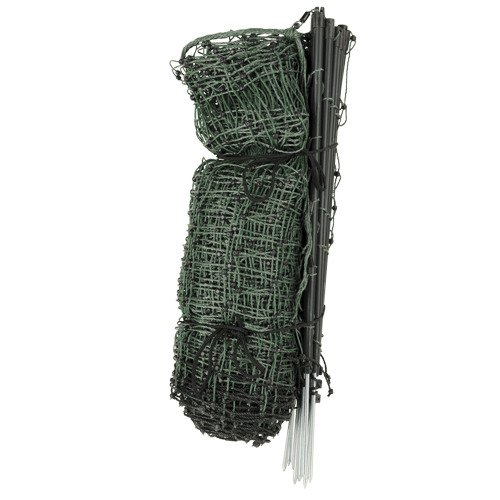 Premier Enhanced 20'' Electric Garden Net Fence, Green/Black, 9/20/3EG
