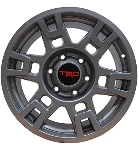- 17 INCH Toyota TRD PRO Style Rims FIT 4RUNNER FJ Cruiser Tacoma SEMA Gunmetal Wheels