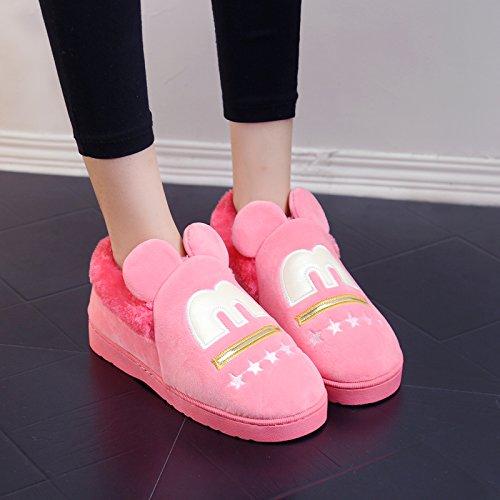 in Casa inverno interni 36 Hui pantofole 36 maschio spessore Fit piedi di Cocomero cotone 37 femmina amanti rosso 35 antislittamento Y per del di caldo per pantofole arredamento pantofole gli qWE5vwv0d
