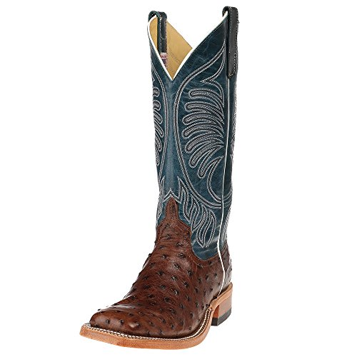 Anderson Bean Mens Kango Tabac Mad Dog Full Quill Ostrich Cowboy Boot 10 B(M) US Tobac
