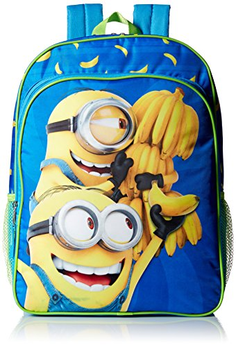 Despicable Me Boys' Universal Multi Compartment 16 Inch Backpack, Blue -