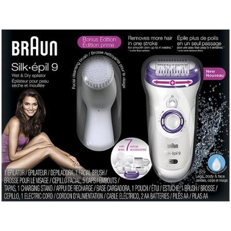 Braun Silk-épil 9 9-579 Bonus edition - Wet&Dry Cordless Epilator with 7 Extras & Facial Cleansing Brush (9 Silk)