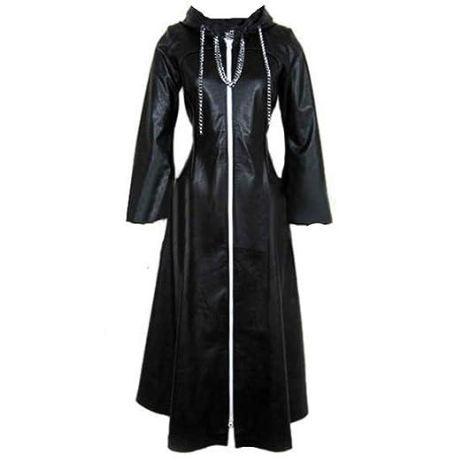 Kingdom Hearts Cosplay Costume Organization XIII 2-WAY-BIG-ZIPPER Coat Cloak Men