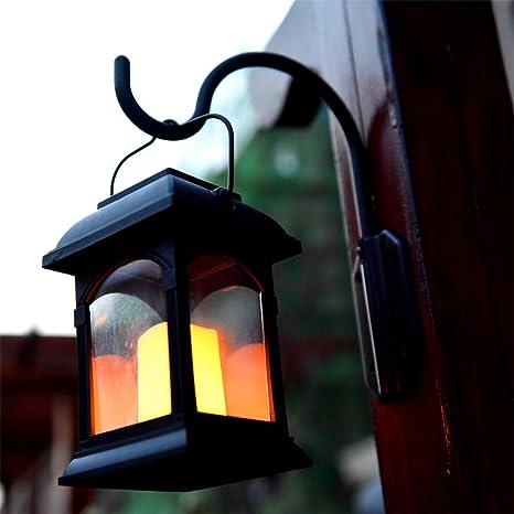 Faroles Solares De Pared Decoración De Interior Al Aire Libre Luces De La Vela De Carga Solar Retro Linterna para Jardín Patio Patio Decorativo,2Pack: Amazon.es: Deportes y aire libre