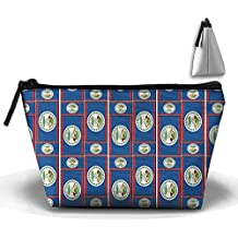 Belize Flag Puzzle Cosmetic Bag Makeup Bags Pouch Stationery Bag Pencil Base Learning Bools Handbag Organizer Bag