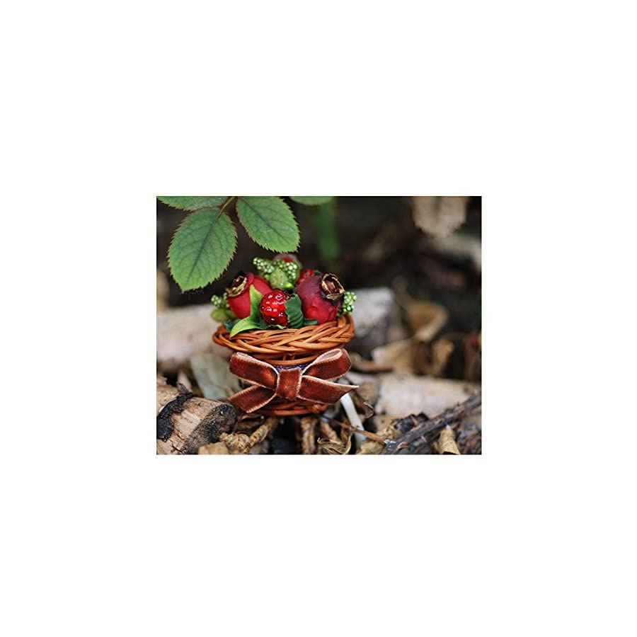 Helen de Lete Innovative Flower and Berry Basket Handmade Brooch