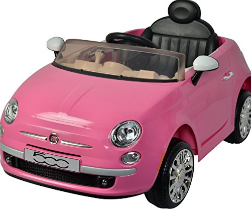 Best Ride On Cars Fiat 500 12V Ride on Toy, Pink