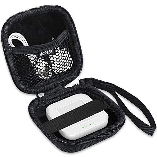 AGPTEK Carrying Case for Credit Card Reader Scanner, Square Contactless, Square Reader, Portable Chip Reader Holder for USB Cables