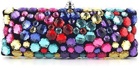 バッグ - イブニングバッグ手色のクラッチバッグの女性のバッグのダイヤモンドの宝石ハンドバッグショルダーバッグメッセンジャーバッグをビーズ、9.2センチメートル* 25センチメートル* 6センチメートル よくできた